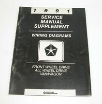 1991 Chrysler Dodge Van/Wagon Service Manual Supplement Wiring Diagrams FWD AWD - $14.80