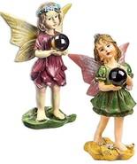 Magical Fairy Garden Fairies with Gazing Glass Ball Set of 2 Bundle of 2... - $19.79