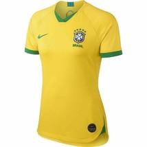 Nike Brazil Soccer Jersey -Size XS Yellow/Green Women's AJ4390-749 Brasil - $29.70