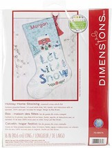 Dimensions Counted Cross Stitch 'Let It Snow' Personalized Christmas Sto... - $23.59