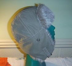 PASTEL KARKI RETRO DAVID CROCKETT HAT JOULES CLIPS UNDER CHIN SHERPA EAR... - $15.71