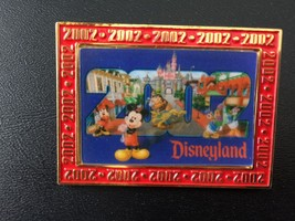 Disneyland Lenticular Pin Mickey Minnie Pluto Donald Castle Limited Edit... - $6.92