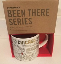 Starbucks Chicago 2018 Holiday Been There Coffee Mug White Gold Red - $59.39