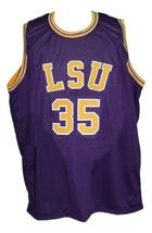 Chris Jackson #35 College Basketball Jersey New Sewn Purple Any Size image 3