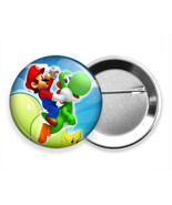 SUPER MARIO BROTHERS RIDING YOSHI NEW PIN PINBACK BUTTON VIDEO GAMER GIF... - $9.49+