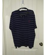 Ralph Lauren Polo Shirt Stripe Navy Blue XL Men Mens Man 17759 - $22.30