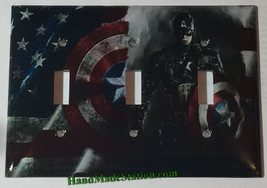Captain America Light Switch Power Duplex Outlet wall Cover Plate Home Decor image 3