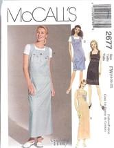 UNCUT McCalls Sewing Pattern Misses Dress Jumper 2677 OOP SEW Creative N... - $4.89