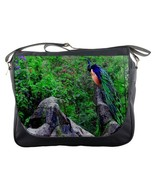 Limited Messenger Bag New Beautiful Green Peacock At Rock Junggle Animal... - $36.00