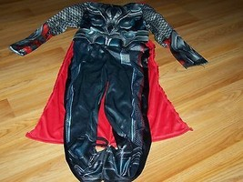 Boys Size Small 6 The Avengers Thor Halloween Costume Jumpsuit Cape Musc... - $28.00