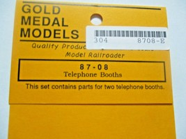 Gold Medal Models # 87-08 Telephone Booths HO-Scale image 2