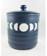 Stay Wild Moon Child Blue White Boho Moon Phase Ceramic Jar Cannister w/... - £18.71 GBP