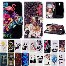 Painted Flip Leather Wallet Card Case Cover For Samsung Galaxy J3 J5 J7Pro 2017 - $58.31