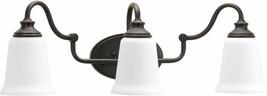 Bathroom Vanity Lighting 24.5 in. W 3-Light Glass White Shades Venetian ... - $166.55