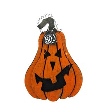 "Allstate 16"" Orange Black ""Boo"" Light Up Jack O' Lantern Halloween Decor - $27.22"