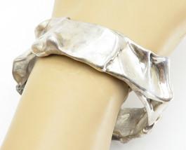 925 Sterling Silver - Vintage Large Modernist Designed Bangle Bracelet -... - $144.27