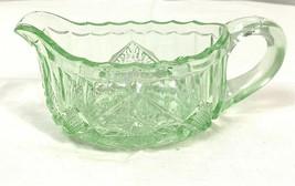 Vintage Green Depression Glass Creamer - $23.74