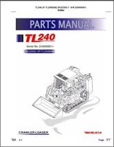 Takeuchi TL240 Crawler Loader Parts Manual on a CD - TL 240 - $12.00