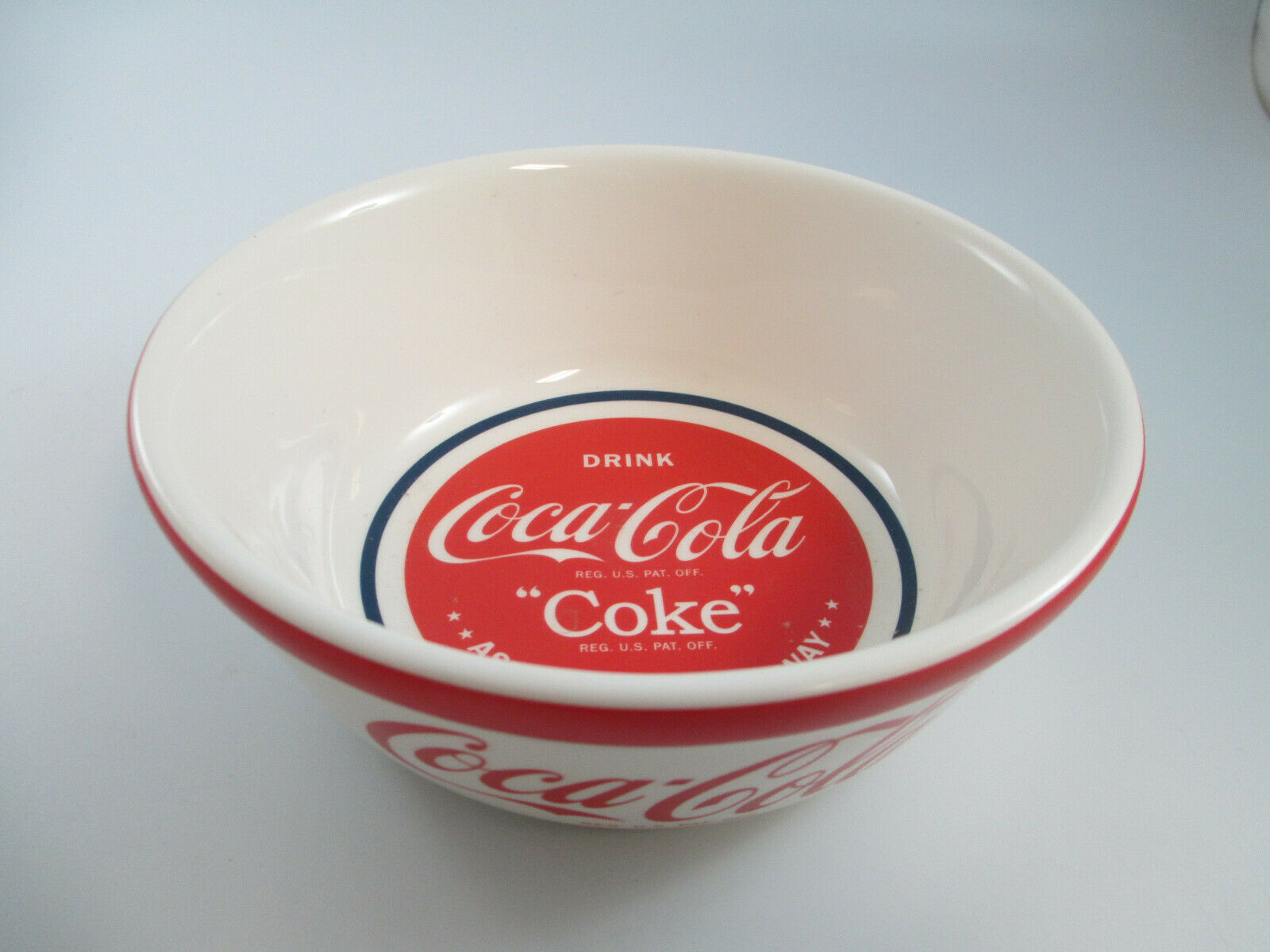 Primary image for Coca-Cola Stoneware Cereal Soup Bowls Ask For It Either Way
