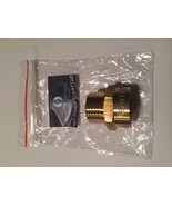"""Brass Metric BSP G 1/2"""" Male to NPT 1/2"""" Female Pipe Fitting Coupling Ad... - $14.33"""