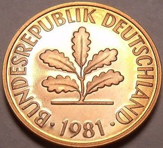Germany 1981-D Pfennig Proof~Only 90,000 Minted~Minted In Munich~Free Sh... - $6.62