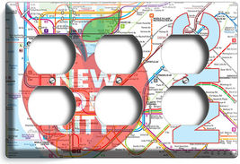 NYC NEW YORK CITY BIG APPLE SUBWAY MAP LIGHT SWITCH OUTLES WALL PLATE ROOM DECOR image 12