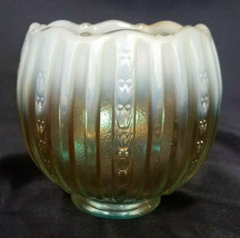 Fenton 100th Anniversary Opalescent and Gold Faberge Rose Bowl (2005) - $36.00