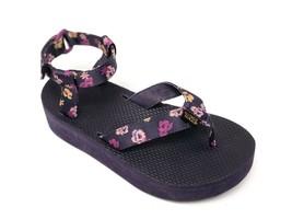 Teva Women's Flatform Floral NIGHTSHADE Purple 1010155 Casual Strapping ... - $39.99