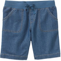 Faded Glory Girls Pull On Bermuda Shorts Med Wash Size SMALL 6-6X NEW - $9.89