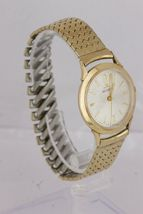 Vintage Jaeger LeCoultre 10K Yellow Gold Filled Dress Silver Lugs Watch 34mm image 3