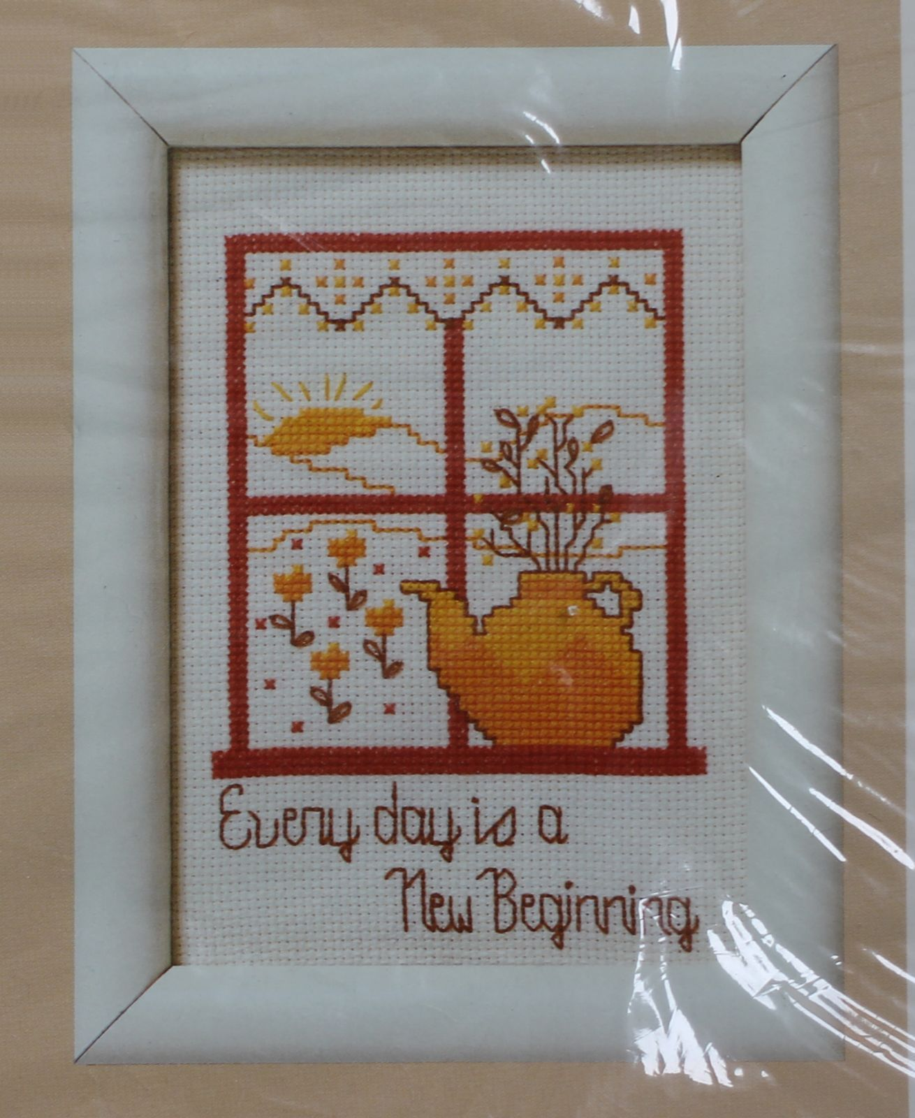 Primary image for 1987 Creative Circle Counted Cross Stitch Every Day Is A New Beginning KIT 5 x 7