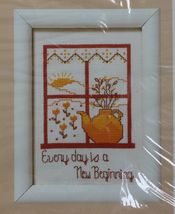 1987 Creative Circle Counted Cross Stitch Every Day Is A New Beginning KIT 5 x 7 - $11.99