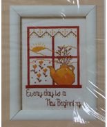 1987 Creative Circle Counted Cross Stitch Every Day Is A New Beginning K... - $11.99