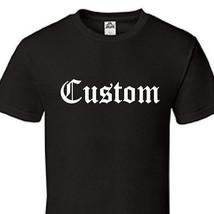 Custom Printed Gothic Thug Classic Old English Text T-Shirt Tee - All Sizes C06 - $14.45+