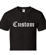 Custom Printed Gothic Thug Classic Old English Text T-Shirt Tee - All Si... - $14.45+