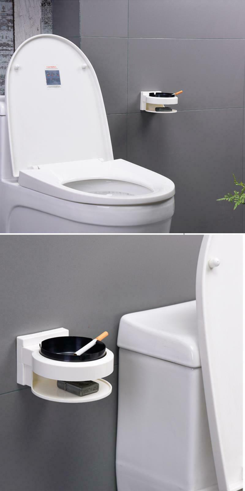 Stainless Steel Ashtray Creative Wall Mounted Bathroom Ash Storage Portable Box image 8