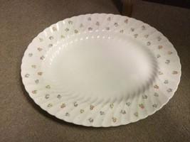 "WEDGWOOD Cascade 14"" Oval Platter China ENGLAND - Flower Pattern - $47.41"
