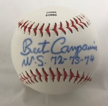 """Bert Campaneris Signed Autographed """"WS 72, 73, 74"""" Rawlings Official Lea... - $29.99"""