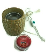 Yankee Candle Wax Warmer Easy Melt Cup SPW-89 w/ Easy Melt Cup Christmas... - $28.02