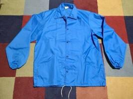 Vintage BLUE Great Lakes Detroit Light Track USA Rain Jacket Mens UNUSED L - $27.66