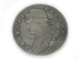 1831 Capped Bust Half Dollar Cleaned ANACS VF 30 Details - $179.00