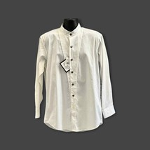 Cumberland Outfitters Mens L/S White Banded Collar Shirt Size L - $34.99