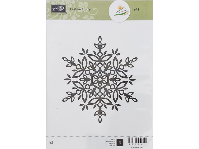 Stampin' Up! Festive Flurry Rubber Stamp #131781
