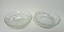 "EAPG US Glass Manhattan Two 8.5"" Bowls 1 in Scallop Edge & 1 w Smooth Ed... - $24.95"