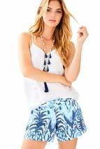 Lilly Pulitzer Callahan Serene Blue Tropi Call Me Vintage Dobby Shorts 16 - $57.92