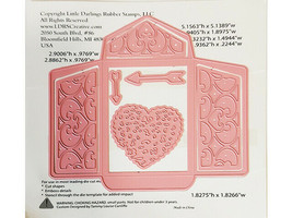 NEW! LDRS Creative Metal Die Lacey Envelopes Love Letter #8047 image 2