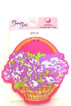 Bon Bini Flower Basket Jumbo Luggage Tag Rubber Purple Flowers Suitcase ... - $14.92