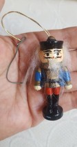 Vintage Handpainted Toy Soldier Boy Multi Colored Wooden  Ornament Christmas - $11.59