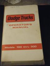 Dodge Trucks Operator's Manual for Models 100 Thru 300 (1972) - $20.98