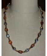 VENDOME Silver Topaz AB Faceted Crystal Bead Bead Long Necklace Vintage - $74.25